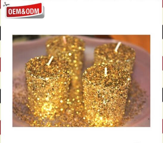 Luxury Golden Hotcake Beeswax Pillar Candles
