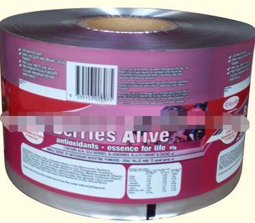 OEM aluminum foil laminated roll film/ food grade flexible packaging plastic film roll