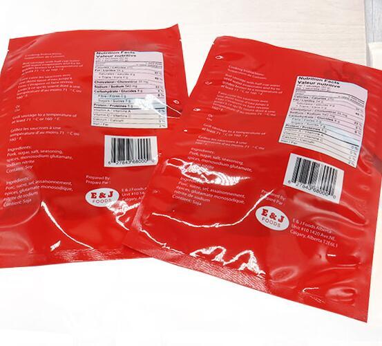 Three sides seal transparent clear nylon lamination plastic food packing vacuum storage bag