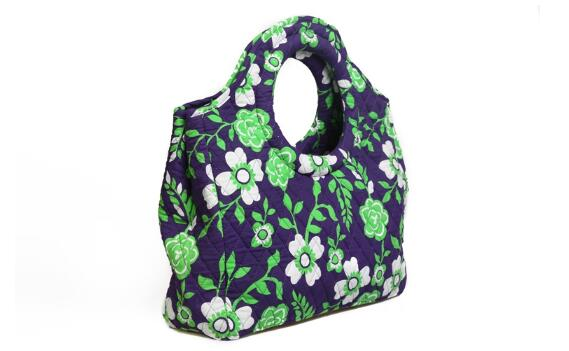 QUILTED FLORAL FULL COLOR PRINTED  HOBE BAGS