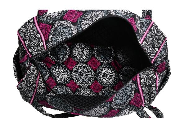 NEWEST DESIGN FLORAL PRINT QUILTED COTTON WEEKEND TRAVEL BAG