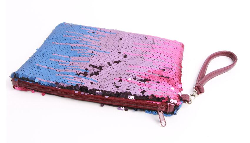 HIGH QUALITY SEQUIN EMBROIDERY COSMETIC BAG