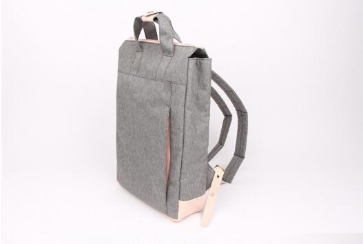 GREY VINTAGE STYLE UNISEX KOREAN FASHION CASUAL LAPTOP LINEN BACKPACK