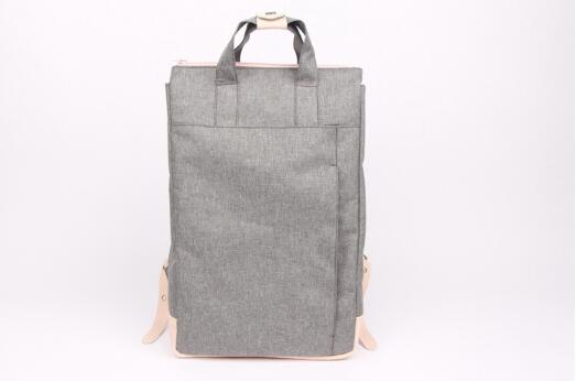 GREY VINTAGE STYLE UNISEX N FASHION CASUAL LAPTOP LINEN BACKPACK