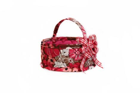 BASKET COTTON BAG WITH BUTTERFLY KNOT