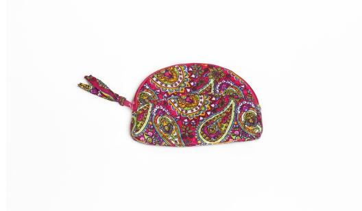 HIGH QUALITY FLORAL QUILTED COTTON ZIPPER COIN PURSE