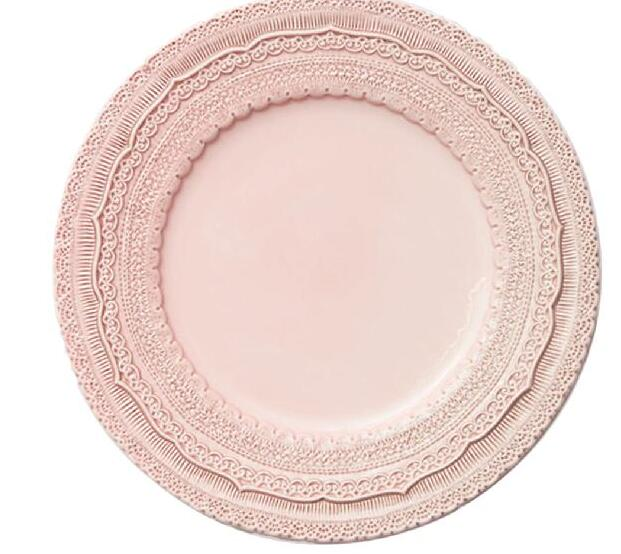 New desigh ceramic embossed charger plates