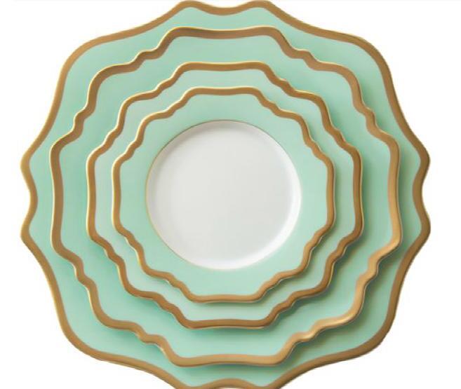 ceramic sealloped porcelain dinner plates