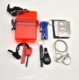 earthquake rescue equipment sos tool boxes emergency self defense survival gear camping tool sos mini emergency kit