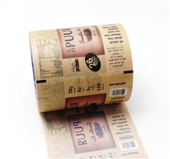 colorful printed plastic aloe vera gel sachet roll film packaging
