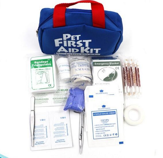 China Suppliers Easy to Carry Dog Cat Pet First Aid Kit Pet Safety Kit to Travel with Your Pet