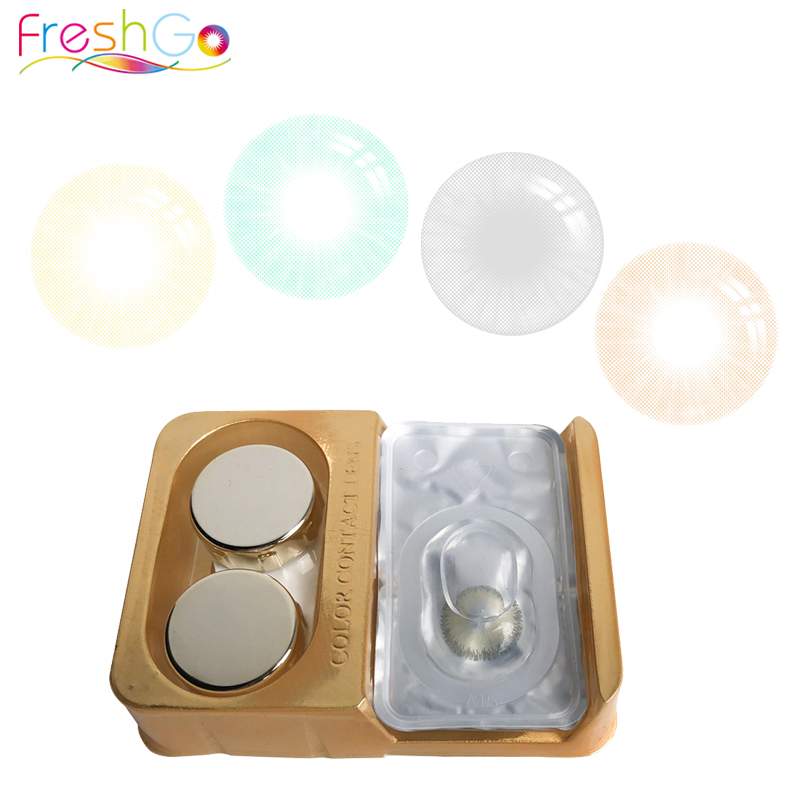 Wholesale Freshgo Ultrathin Comfortable Eye Contacts Soft 1 Year Natural Contact Lens Beauty Colored Contact Lenses for sale