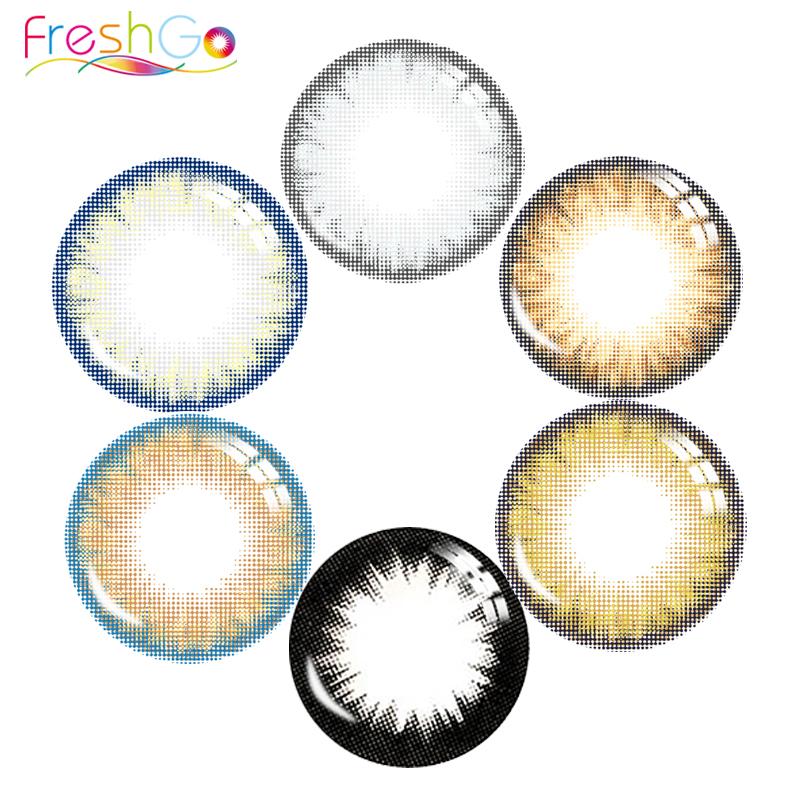 2018 Freshgo Pro Khaki Indian contact lens color contacts eye lenses colored contact lenses for sale