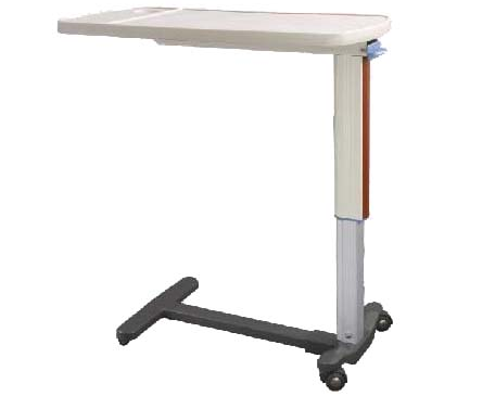BT-AT016 Gas spring height adjustable with four castors overbed dining table for hospital bed