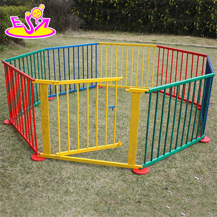 2018 New outlets wooden outside folding baby playpen,Round or Square luxury baby playpen,High quality baby safety fence For Sale