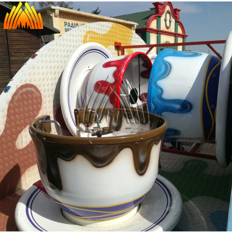 China factory amusement coffee cup rides with trailer for sale