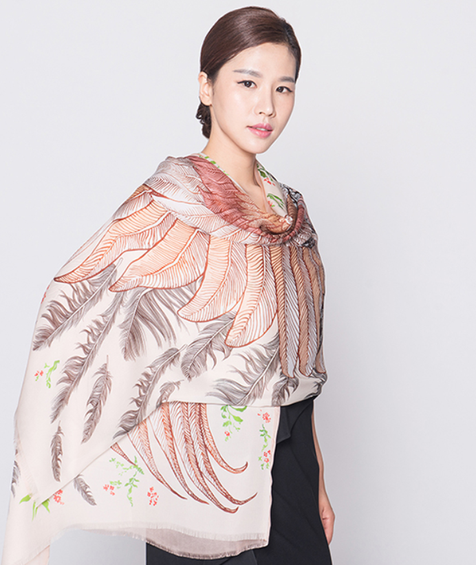 chinese factory custom designer pattern made chiffon silk scarf for sale