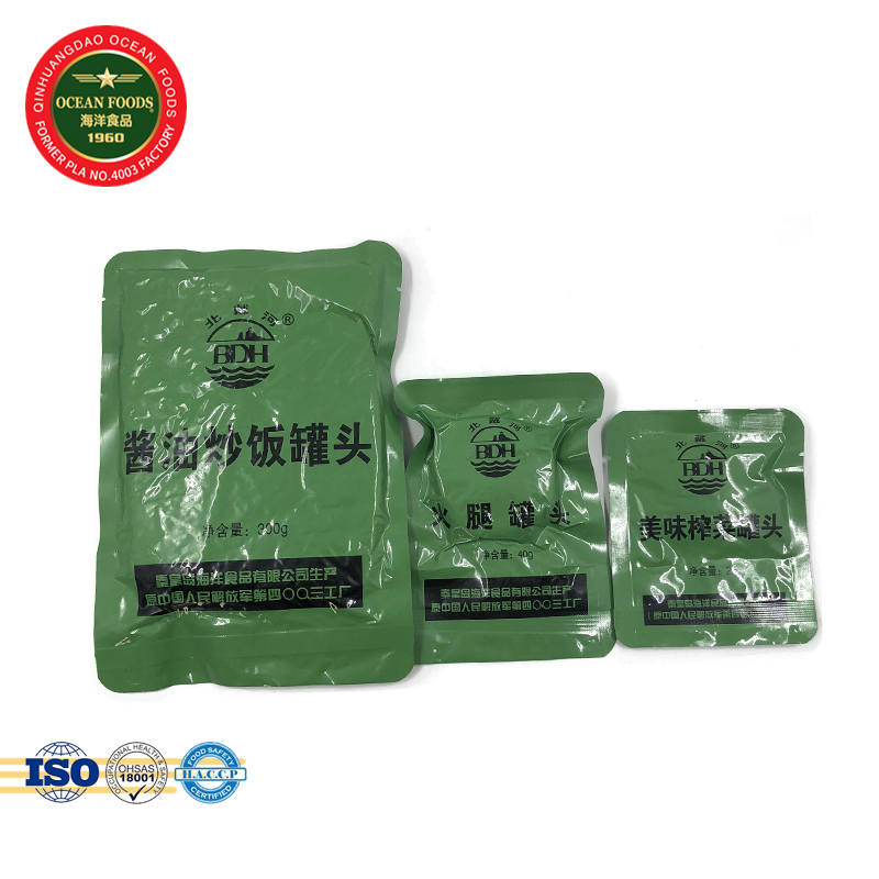 360g MRE Self Heating Rice Instant Soy Fried Rice for sale