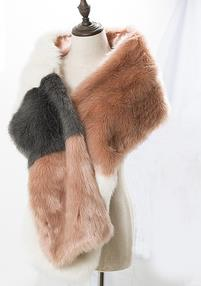 New Design Fashion Faux Fur Assorted Colors Smooth Scarf for Women for sale