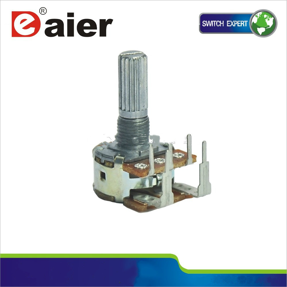 WH148-1AK-5 Reverse type high power b500k rotary dual gang potentiometer for sale