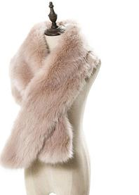 Winter Fashion Warm Gradually Color Faux Fur Lengthen Scarf for Women for sale