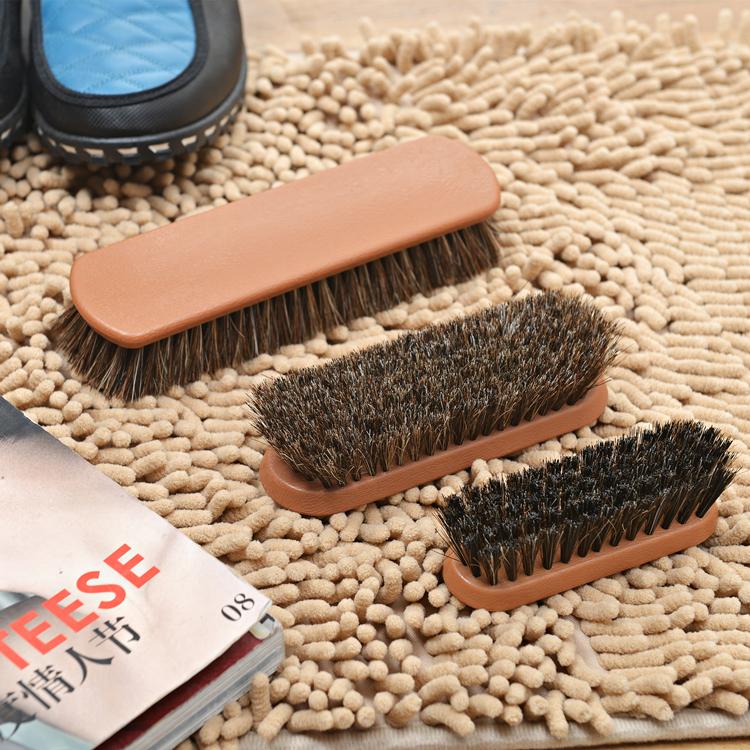 14.5*4.5*3.3cm Horse hair shoe brush/shoe cleaning brush sale