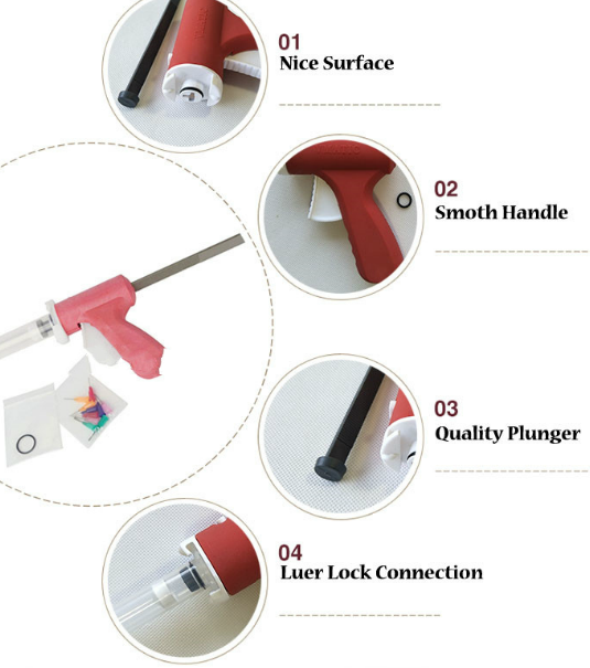 2018 New Arrival Manual Syringe Gun Dispenser 10CC Glue Manual Caulking Gun