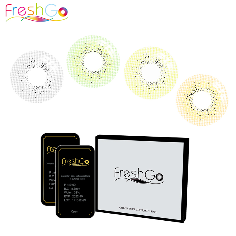 2018 Freshgo Ocean High Quality Circle Soft Contact Lenses Wholesale Color Contact Lens for sale