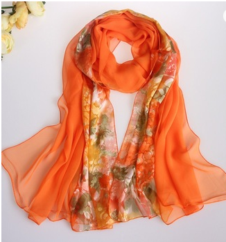 Fashion Silk Satin 100 Pure Silk Scarves for sale