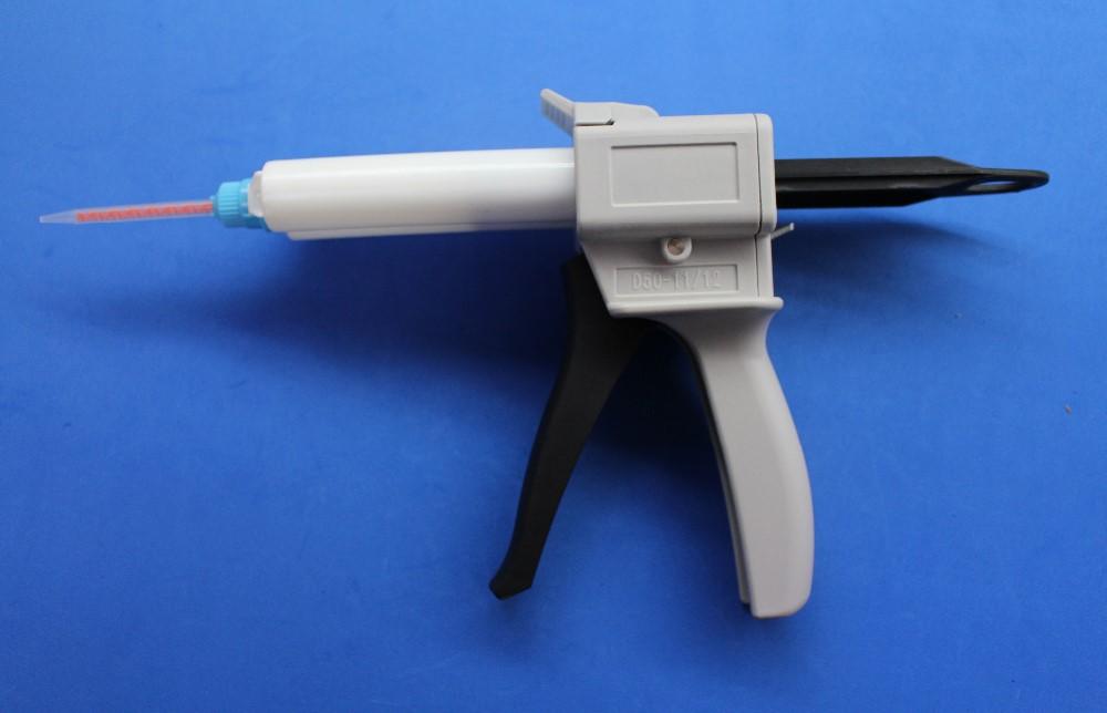 High precision promotion caulking gunWholesale 8sets/lot 2-part Epoxy Resin Caulk Mixing Gun Dispenser Applicator 50ml ratio 1:1for sale