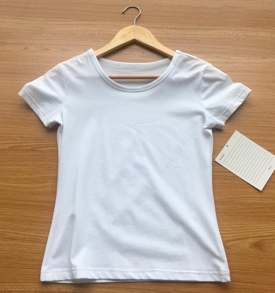 100% Plain White Cotton T-shirts for sale
