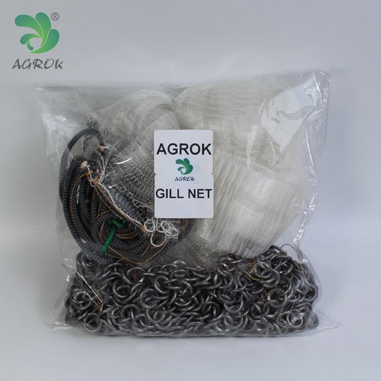 Agrok Single Layer Big Mesh Lead Chain Nylon Monofilament Gill Netv for sale