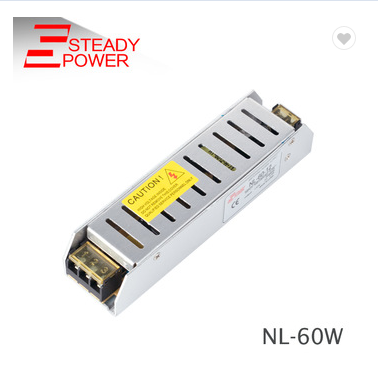 Ultra-thin 12V 5A 60W LED driver NL-60-12 LED power supply for LED light , cctv for sell