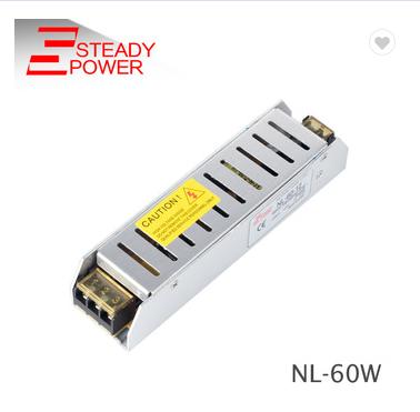 Ultra-thin 12V 5A 60W LED driver NL-60-12 LED power supply for LED light , cctv for sell