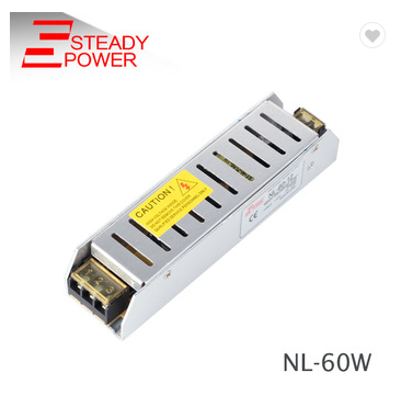 Ultra-Thin smps 220v ac dc 12v 60w power supply ,12v 5a power supply for sell