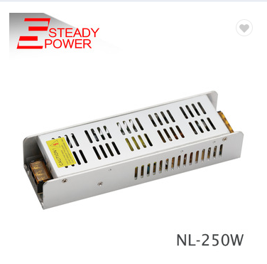 slim psu 250W single output 110v ac to 24v dc 10a switching mode power supply for sell
