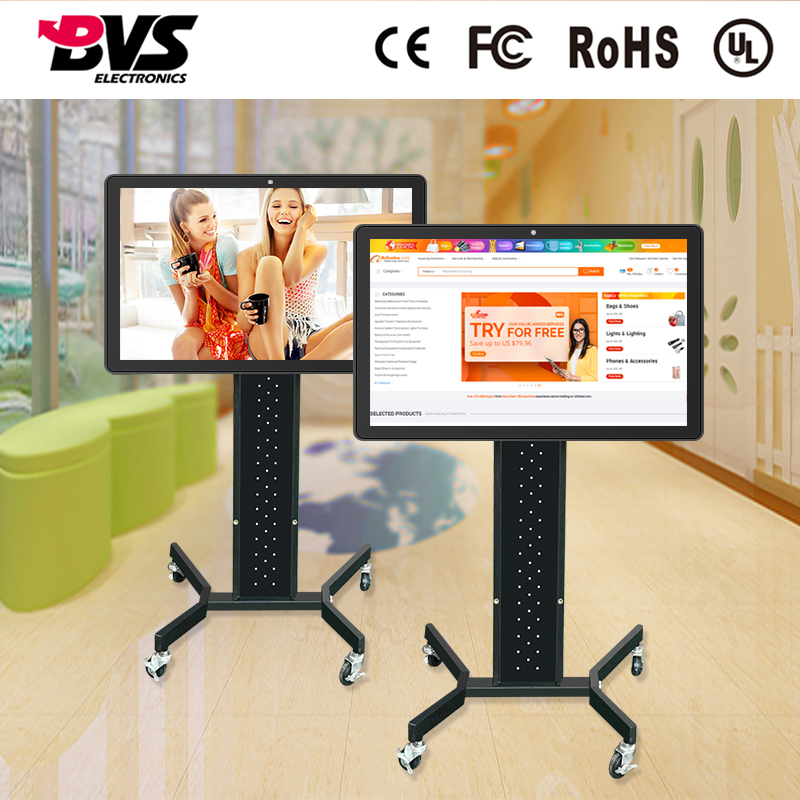 Floor standing or wall hanging 32 inch led panel all in one pc hotel tv with 1920*1080 resolution