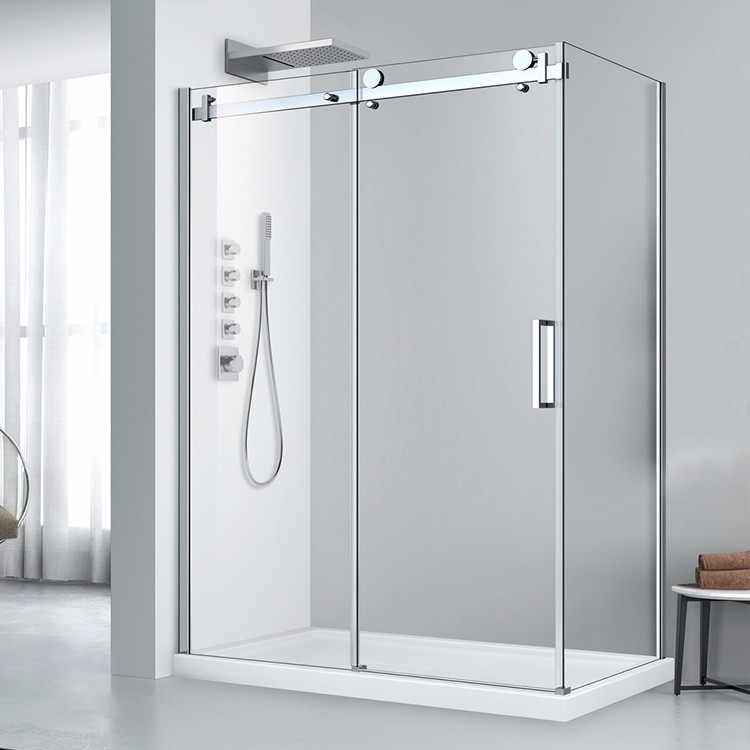 Extension Bathroom Big Roller Bypass Sliding Glass Shower Door For Sale