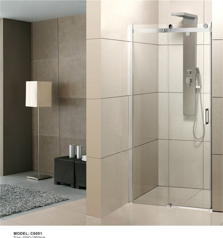 Bathroom 8 Tempered Glass Auto Sliding Shower Door For Sale