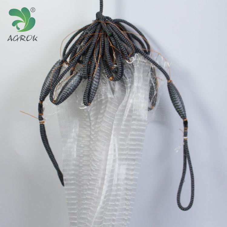 Agrok Single Layer Big Mesh Lead Chain Nylon Monofilament Gill Net for sale