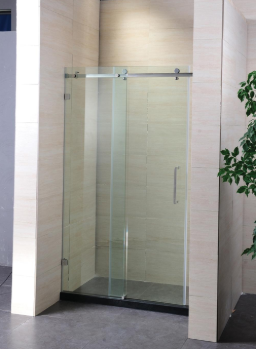 Frameless sliding tempered glass shower door for bathroom for sale