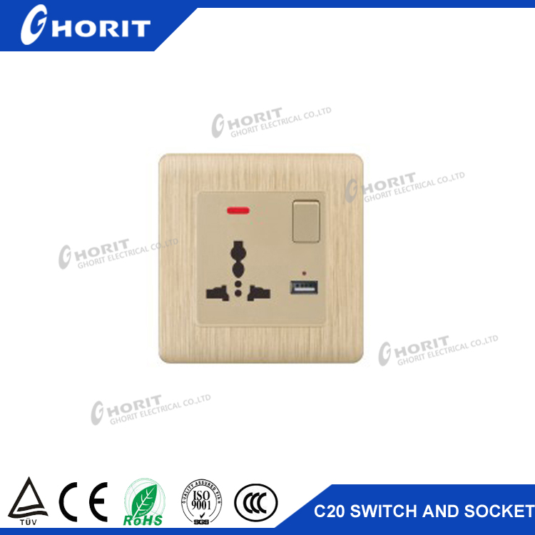 Building appliance supply power switch USB electrical switch socket for sale