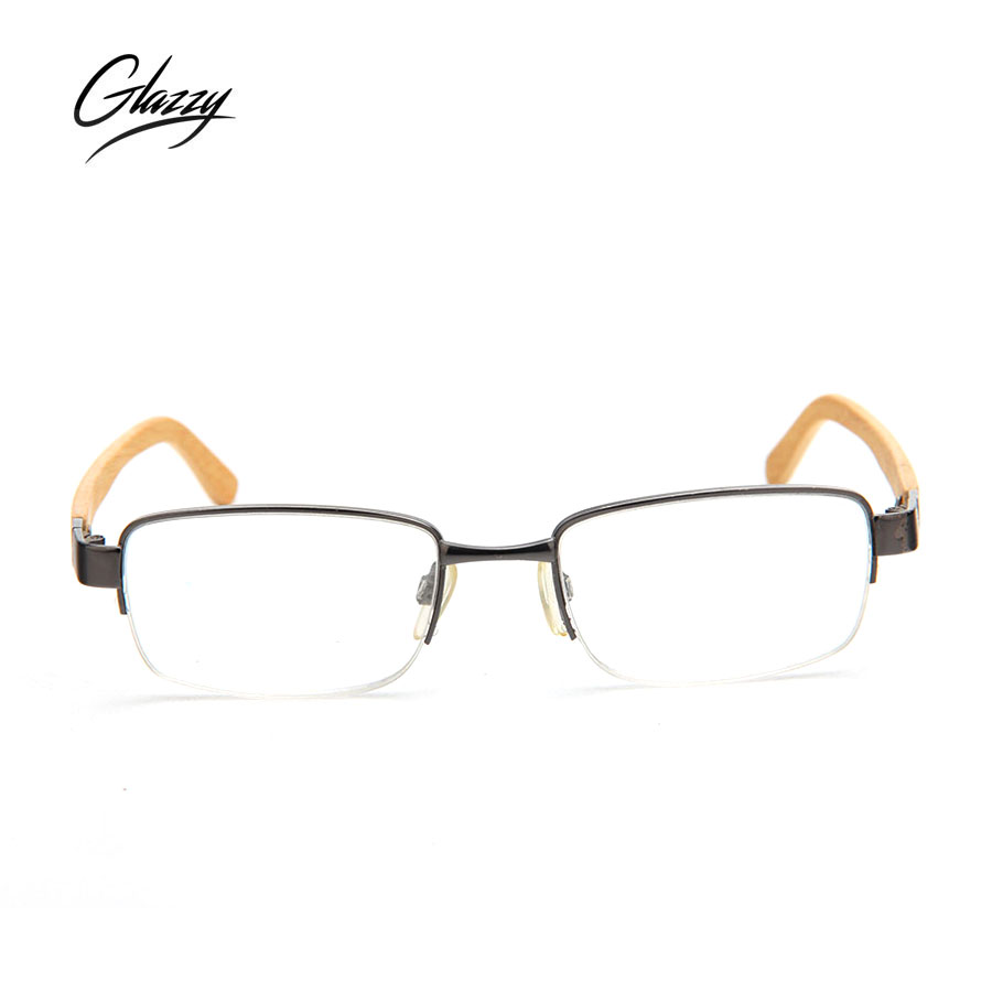 Glazzy rectangle frame bamboo temple reading glasses for men&women for sale