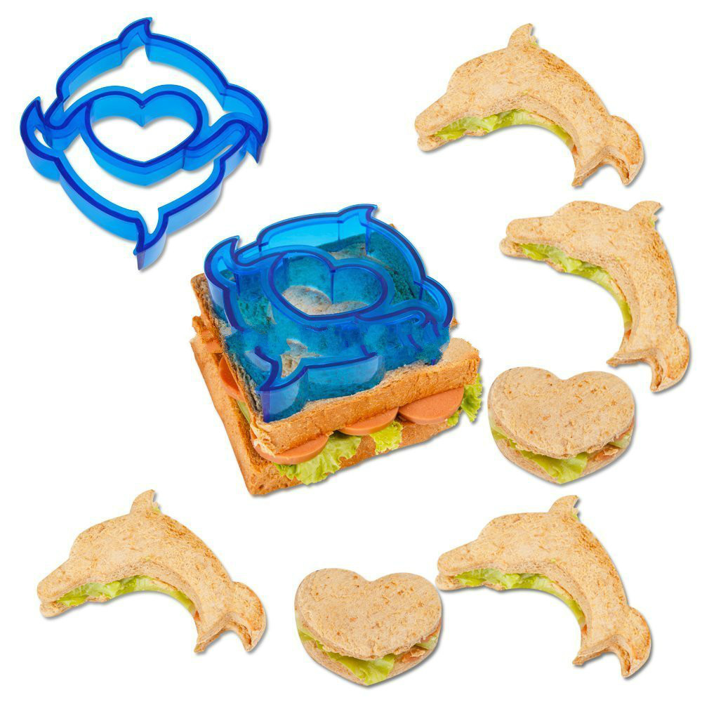 Amazon Hot Sale DIY Cookie Tools Different Shapes Fun Sandwich&Bread Cutter Set For Kids sale