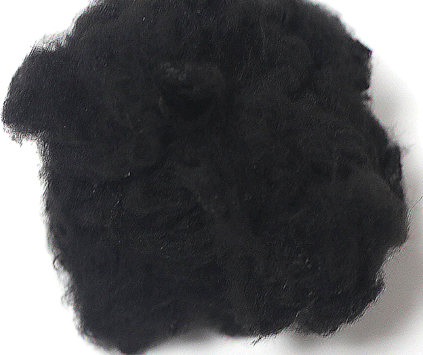 black recycled polyester staple fiber from used pet bottle recycling plant polyester staple fiber for sale