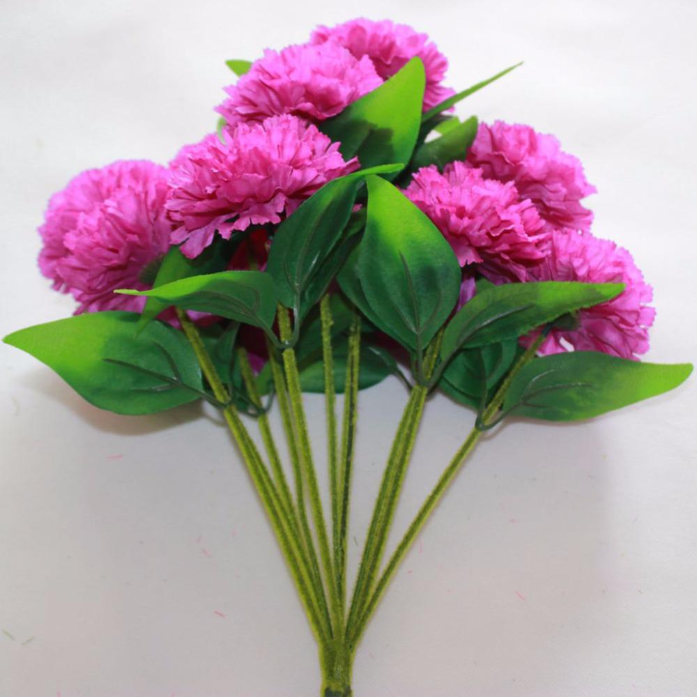 Silk Carnation Bush in Purple sale