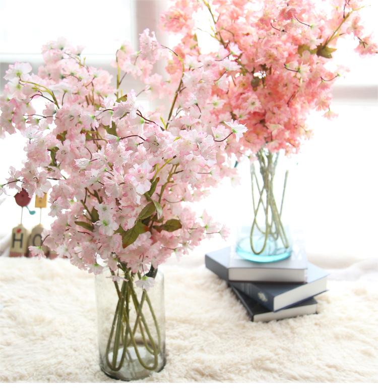 YO CHO Decoration Wedding hotel room party accessory Silk Flowers artifical flowers silk sakura cherry blossom Oriental cherry