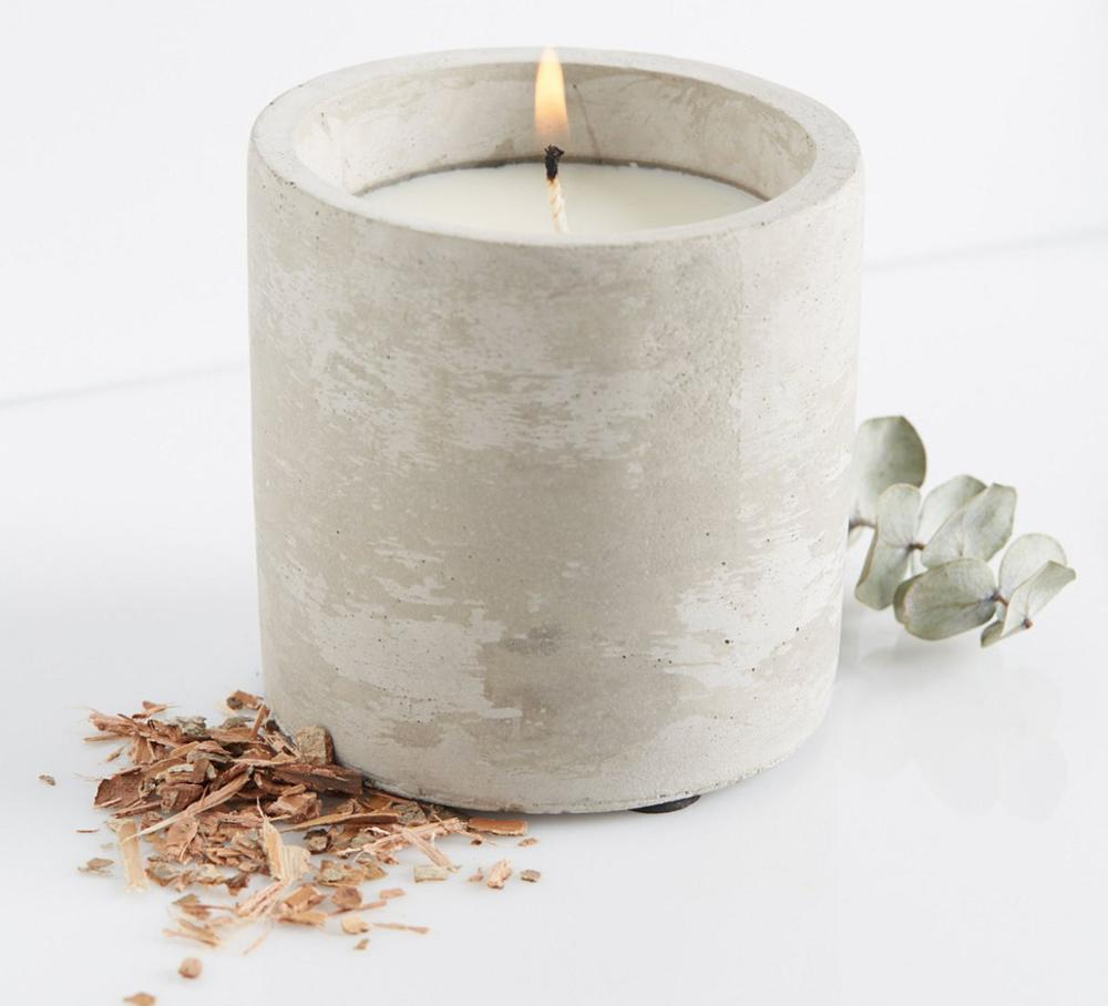 Holiday Decorations Custom Design Candlestick Concrete Candle Holder for Home Table for sale
