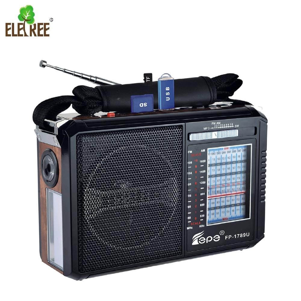best portable rechargeable am fm sw shortwave multi band radio receiver with usb,portable world radio FP-1789U forsale