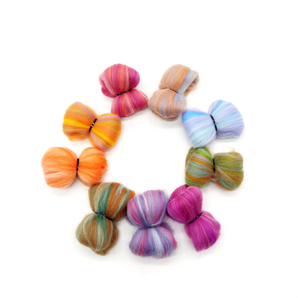100% Merino Wool Different Colors Super Chunky Yarn Wool Top Roving for sale